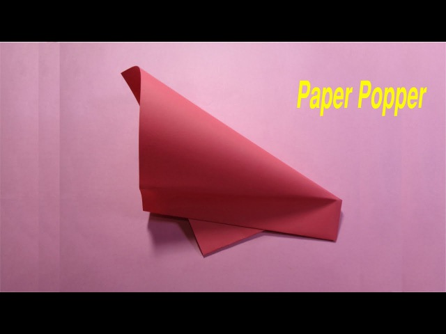 Super easy origami paper popper/ flapper - excellent and huge loud!