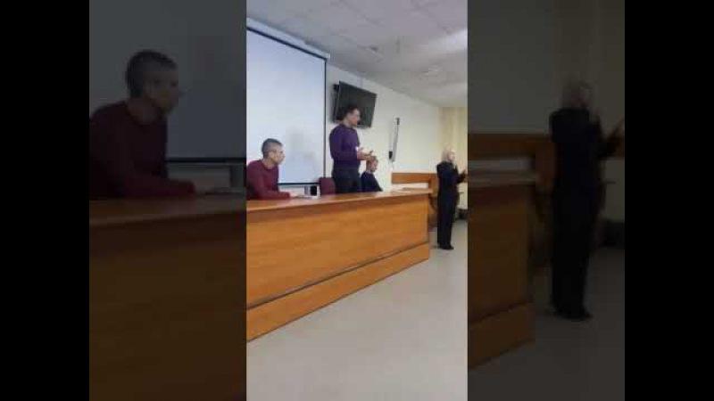 Выступление Трушникова А.С в Нгту (аудитория студенты c ограниченными возможнос ...