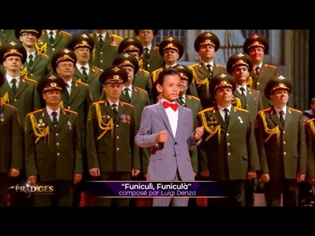 Eric the Nightingale (9 yrs old) and the Red Army Choir - Funiculi Funicula - Full with en sub