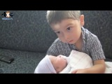 Kids meet Baby Sister Baby Boy for the first time Compilation - 3