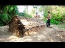 Primitive Technology Wilderness Survival Skills - Underground Termite Clay Brick Hut