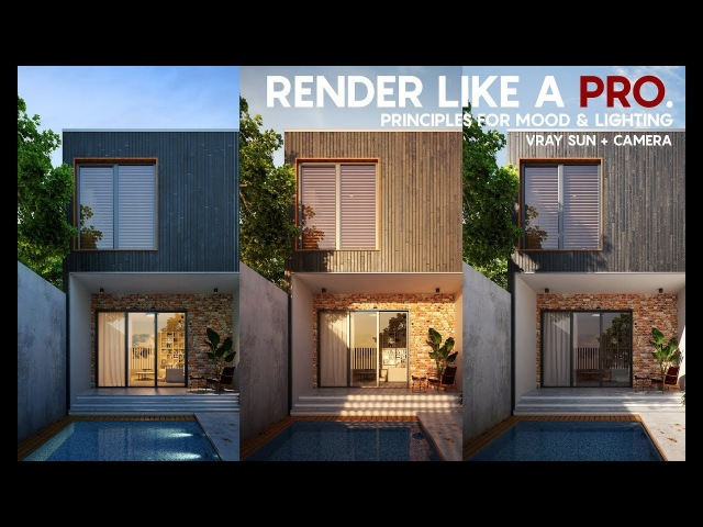 Render like a Pro...Exterior rendering tutorial... Vray sun Camera tricks for lighting and mood