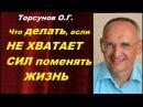 Торсунов О.Г. Что ДЕЛАТЬ, если НЕ ХВАТАЕТ СИЛ ПОМЕНЯТЬ ЖИЗНЬ