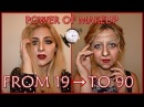 FROM 19 TO 90 TRANSFORMATION. POWER OF MAKE-UP @