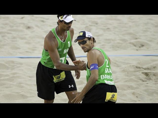 Emanuel/Ricardo (BRA) vs. Herrera/Gavira (ESP) - Amsterdam – Men World Championships 2015
