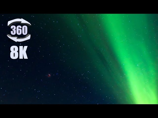 8K 360 video of the Lunar Eclipse and Aurora Borealis near Fairbanks, AK