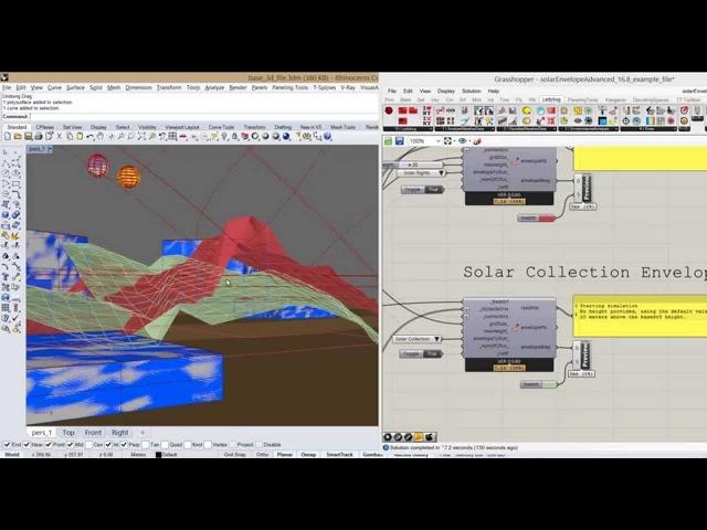 Ladybug - advanced solar envelope component tutorial