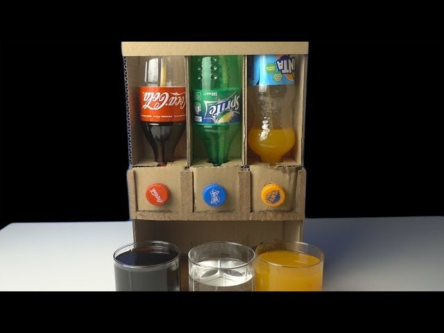 How to make Coca Cola Sprite Fanta Dispenser