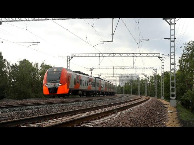 ЭС2Г 006 на перегоне Андроновка - Угрешская Московской железной дороги.
