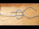 Простой ткацкий узел. Как связать 2 нити.