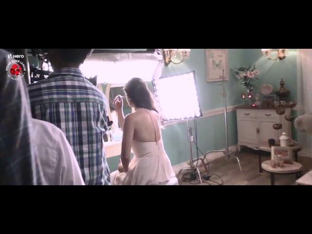 Katrina Kaif Salman Khan on the sets of Indian Super League advert