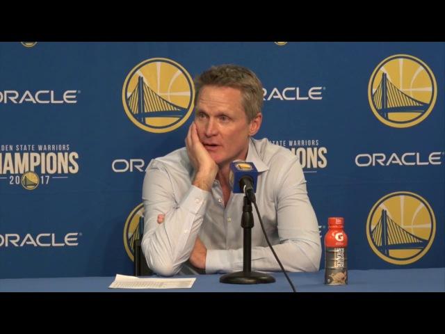 Steve Kerr Postgame Interview / GS Warriors vs Knicks / Jan 23