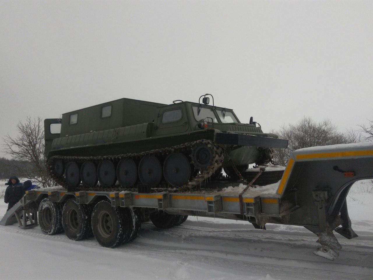 Автопарк Пинских электросетей пополнил снегоболотоход