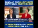Pouvoir d'achat: «Pendant que des millions des retraités ont vu leurs revenus baisser, la ministre du travail Muriel Penicaud ga