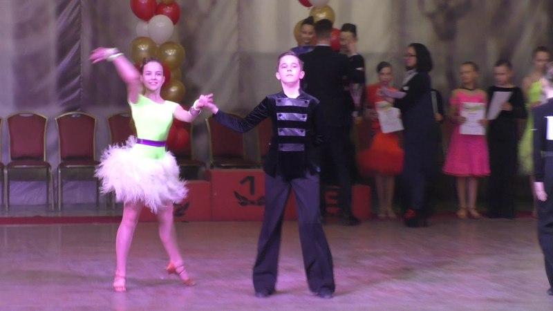 Награждение Юниоры 1 Латина Е класс DANCE–URAL 2018