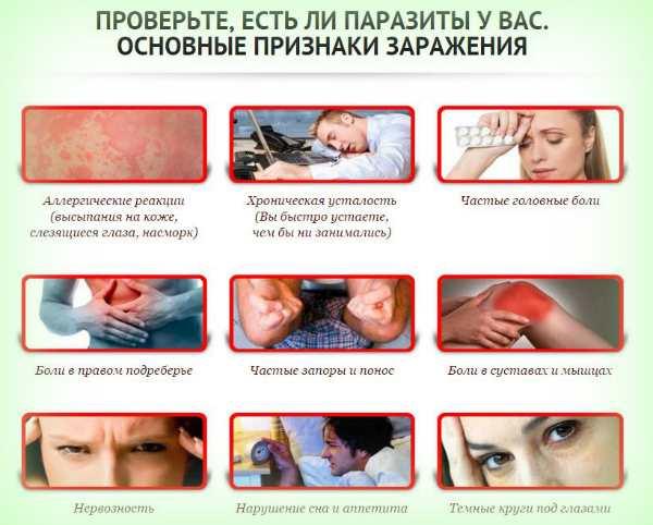 Признаки заражения глистами