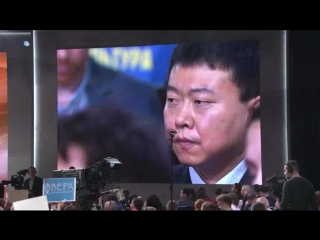Путин отвечает на вопрос корреспондента Синьхуа на большой пресс-конференции