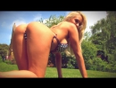 Outdoors striptease Cara Brett