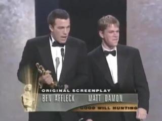 Ben Affleck and Matt Damon Win Original Screenplay- 1997 Oscars