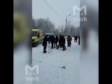 Задержание нападавшего в школе 127. Пермь. 15 января 2018
