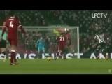 Virgil Van Dijk started celebrating the goal even before Salah received the ball