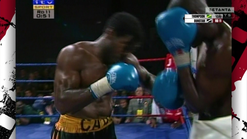 George Foreman vs Muhammad Ali 1974 Carl Thompson vs Terry Dunstan 1999 Celestino Caballero vs Giovanni Andrade 2003