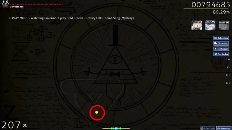 Brad Breeck - Gravity Falls Theme Song (Alphabet) [Mystery] 30sec map   osu!