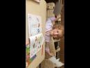 Соня учит буквы гласные и согласные