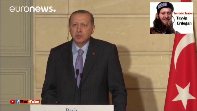 Paris_ Terrorpate Erdogan rastet aus bei Journalistenfrage zu Waffenlieferungen an IS