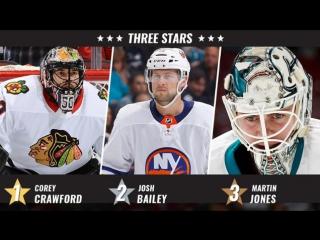 Crawford, Bailey, Jones named 3 Stars of the Week Nov 6, 2017