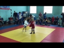 6-летняя Агата Колесова, схватка по самбо.