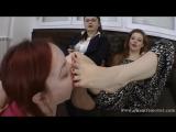 Goddess Victoria Bianca Femdom Foot fetish Фут-фетиш рабыня лижет ноги girl slave licking feet #nylon #footworship