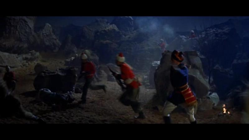 Царек хан (1956). Ночное нападение британцев на лагерь афганских повстанцев