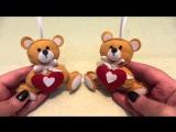 детские игрушка из фетра Мишка своими руками