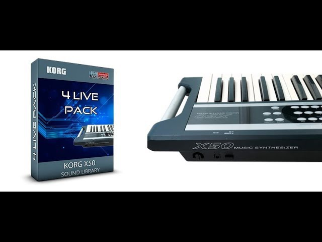 4Live Pack - Korg X50 MicroX Sound Bank ( Leads pads synth ) (Synthcloud Library )