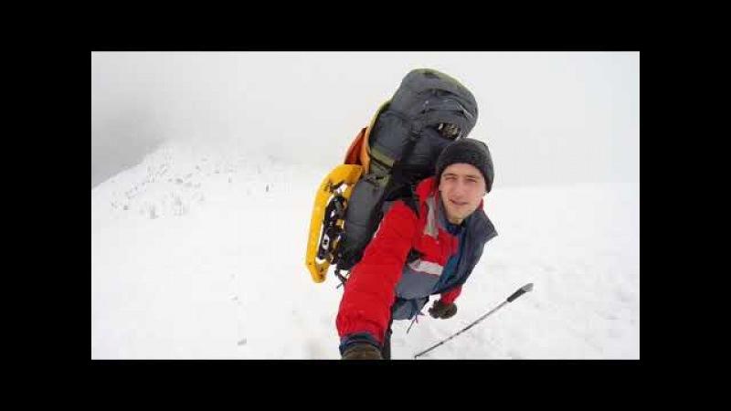 зимний поход карпаты 2018г (заросляк) г. Говерла (Черногорский хребет)