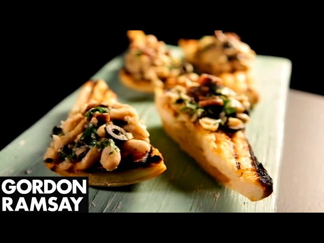 Cannellini Bean Crostini With Anchovy Olives   Gordon Ramsay