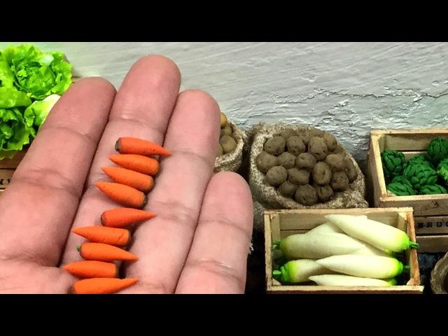 Como hacer Zanahorias miniatura . にんじん. Carrots .. Miniature tutorial