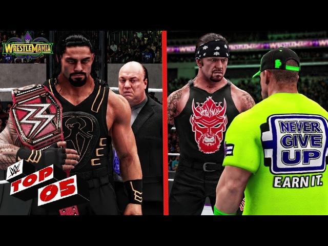 WWE 2K18 Wrestlemania 34 - Top 5 Shocking Things Might Happen At Wrestlemania 34!