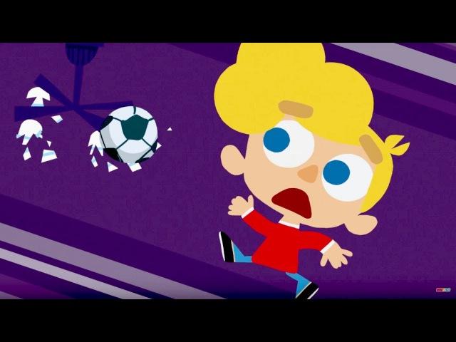 Кошка Бяка и хороший мальчик - Футбол - музыкальный мультик для детей