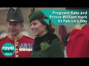 Heavily pregnant Kate and Prince William mark St Patrick's Day
