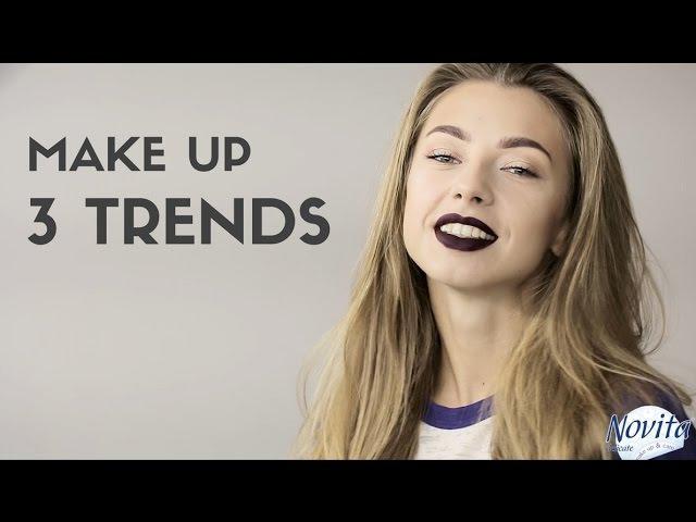 Модный макияж осень-зима 2017 | 3 Тренда в макияже 2017| 3 Trends make up 2017
