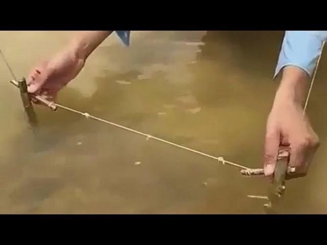 ✪ Необычная Снасть для Рыбалки РАСТЯЖКА| НЕОБЫЧНАЯ РЫБАЛКА без Удочки видео