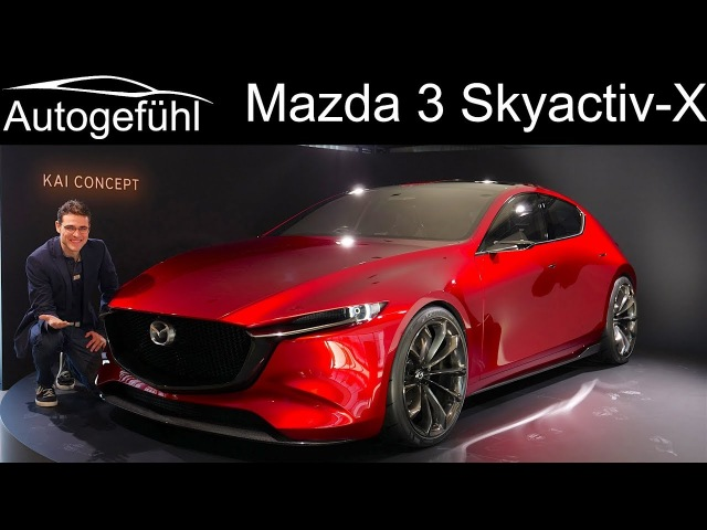 2019 all-new Mazda 3 PREVIEW with Skyactiv-X Diesel-Petrol engine Mazda3 comparison - Autogefühl