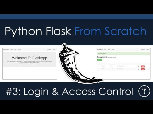Python Flask From Scratch Part 3 Login Access Control