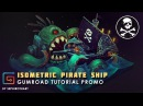 Isometric Pirate Ship ● Gumroad Promo