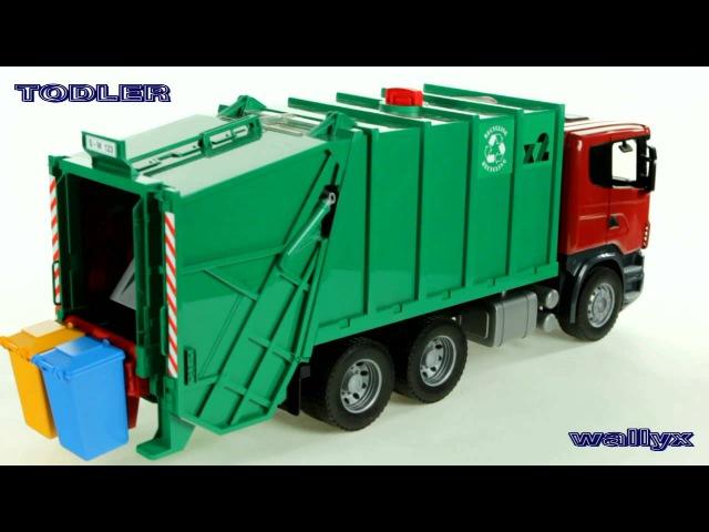 Bruder 03561 Scania R Śmieciarka zielona