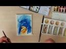 Картина акварелью Год собаки Spead painting