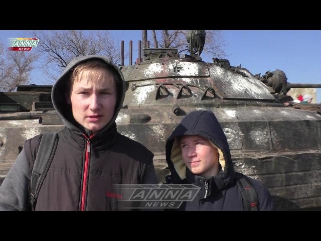 Тренировки по эвакуации детей из зоны боестолкновений поселок Калиново ЛНР