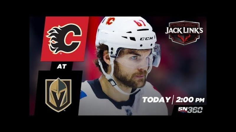 NHL 18 PS4. REGULAR SEASON 2017-2018 Calgary FLAMES VS Vegas GOLDEN KNIGHTS. 03.18.2018. (NBCSN) !
